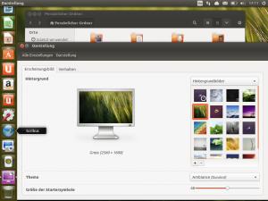 Desktop von Ubuntu 13.10 beta2 mit Unity